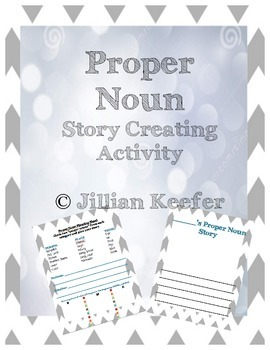 Proper Noun Story Creating Activity