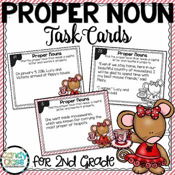 Proper Noun Task Cards - L.2.2.A