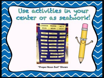 Proper Nouns:  4 Differentiated Common vs. Proper Noun Activities