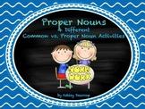 Proper Nouns:  4 Differentiated Common vs. Proper Noun Activities