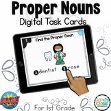 Proper Nouns Activity: 1st Grade Grammar BOOM Cards™ for L