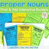 Proper Nouns Activity - Proper Nouns Worksheet (Capitalization Booklet)