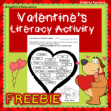 FREEBIE: Valentine's Day Literacy Printable