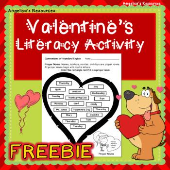 FREEBIE: Valentine's Day Literacy Printable