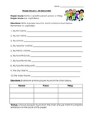 Nouns: Proper Nouns (All About Me) Worksheet