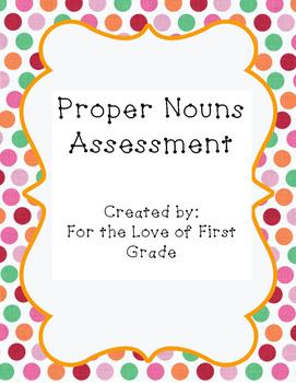 Proper Nouns Assessment