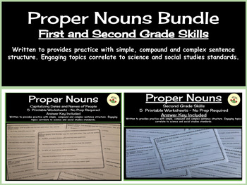 Proper Nouns Bundle: First and Second Grade