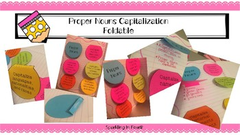 Proper Nouns Capitalization Foldable