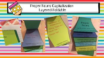 Proper Nouns Capitalization Layered Foldable