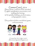 Proper Nouns - Common Core L 2.2 a