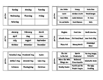 Proper Nouns Flip Books for Interactive Notebooks