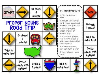 Proper Nouns Grammar Kit {PowerPoint Posters Printables Games}