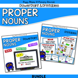 Proper Nouns Grammar Kit {PowerPoint Posters Printables Games} BUNDLE