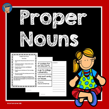 Proper Nouns Literacy Center