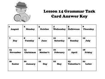 Proper Nouns (Months, Holidays, Days) Task Cards for Journeys Grade 2
