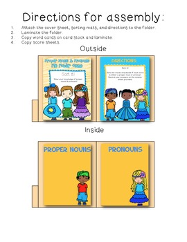 Proper Nouns & Pronouns File Folder Sort