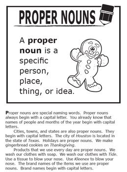Proper Nouns Activities – 2nd Grade Grammar Lesson + Hands-On Nouns  Worksheets