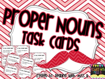 Proper Nouns - Task Cards