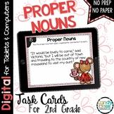 Proper Nouns Task Cards: 2nd Grade Grammar Activities for Google Classroom Use