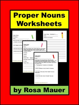 Proper Nouns Worksheets