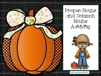 Proper Nouns and Common Nouns Activity