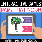 Distance Learning Proper & Common Nouns Interactive, Digital and Paperless Games