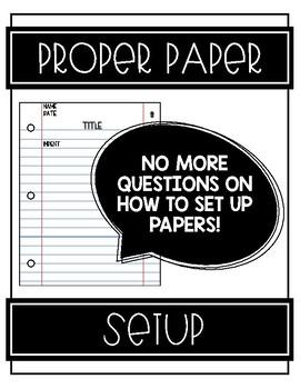 Proper Paper Setup Reference Poster