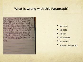 Proper Paragraph Format