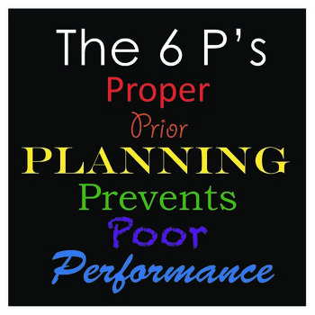 Proper Prior Planning Prevents Poor Performance 12x12 in Poster (to print)