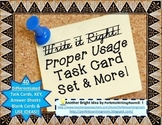 Proper Usage Task Card Set and MORE; Middle School and Hig