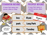 Proper and Common Noun Anchor Chart with Worksheets