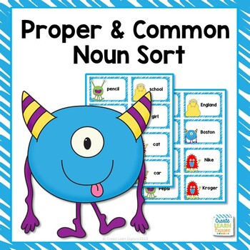 Proper and Common Noun Monster Sort