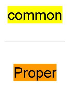 Proper and Common Noun: Pre-Assessment