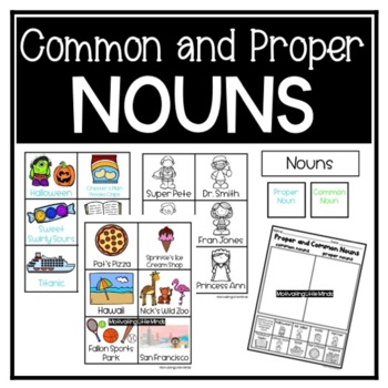 Proper and Common Noun Sort and Game