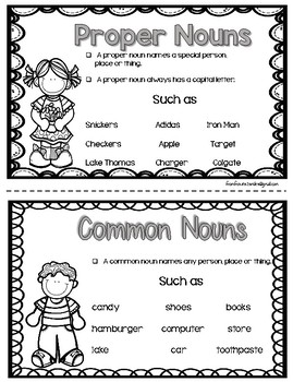 Proper and Common Nouns Activity With Worksheets