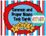 Proper and Common Noun Task Cards Center FREEBIE of the WEEK