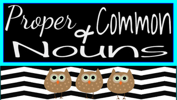 Proper and Common Nouns Lesson Bundle
