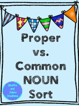 Proper vs. Common Noun Sort