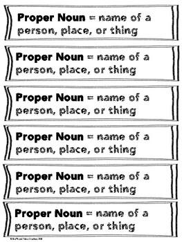 Proper vs. Common Noun Sort