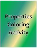 Properties Coloring Activity