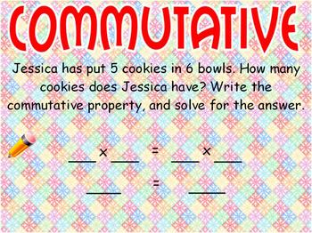 Properties: Commutative, Associative, and Distributive Flipchart
