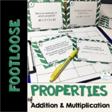 Properties Task Cards-Footloose Math Game|Commutative, Ass