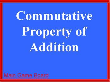 Properties Game: Comm.,Asso., Dist. and Identity properties Math PowerPoint