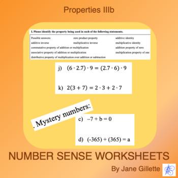 Properties IIIb: Commutative, Associative, Distributive, I