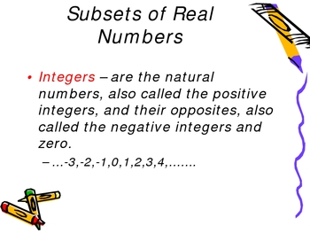 Properties of Real Number PowerPoint