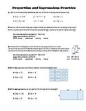 Properties Practice (Commutative, Associative, Identity, Inverse, Distributive)