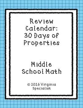 Properties Review Calendar