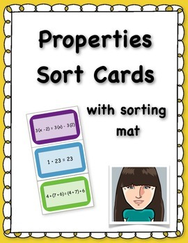 Properties Sort Cards (with sorting mat)