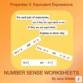 Properties V: Equivalent Expressions