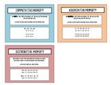 Properties Vocabulary Cards Quiz, Quiz, Trade TEKS6.7D
